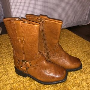 Frye Leather Motorcycle Boots sz 8 Toddler kids